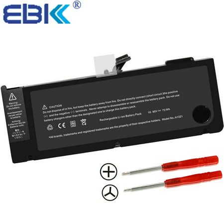 "EBK New Laptop Battery for A1321 A1286 (only for 2009 2010 Version) Unibody Mac Book Pro 15"", fits MB985 MB986J/A MC118 MB986"