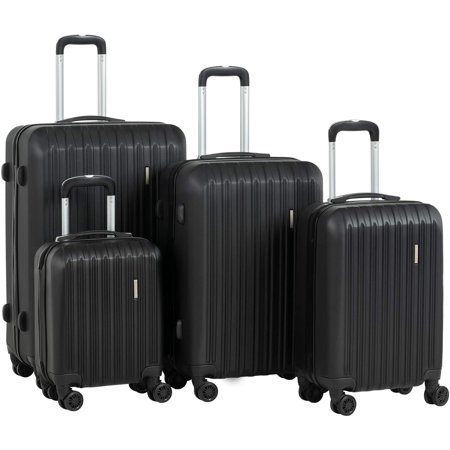Murtisol Travel 4 Pieces ABS Luggage Sets Hardside Spinner Lightweight Durable Spinner Suitcase 16