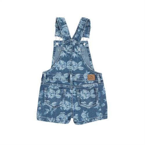 8ab429eff Jordache - Toddler Girl Floral Print Denim Short Overalls - Walmart.com