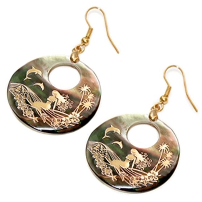 88 Imports AE0163 Shell Earrings - Mermaid