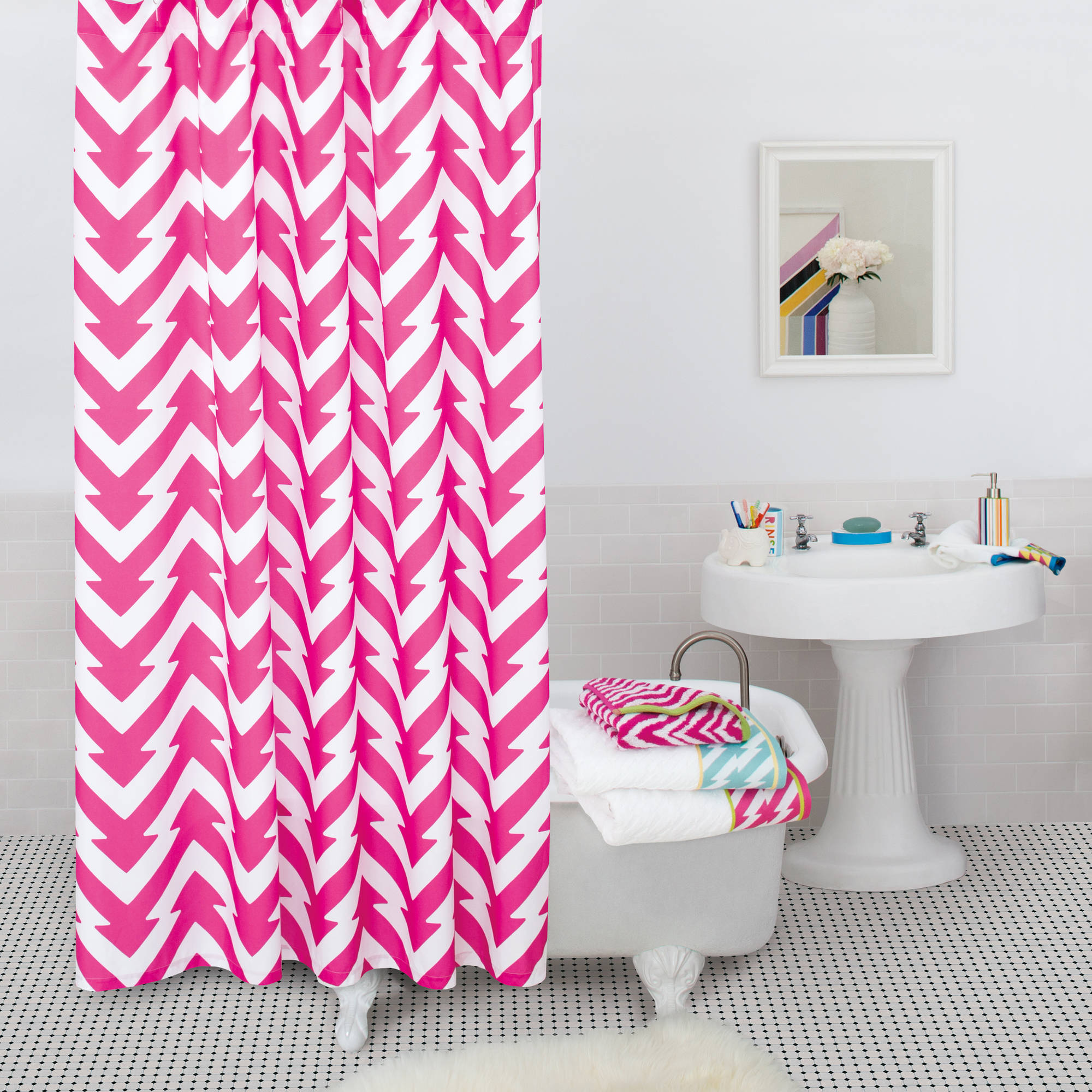 9 by Novogratz Rise and Shine Shower Curtain