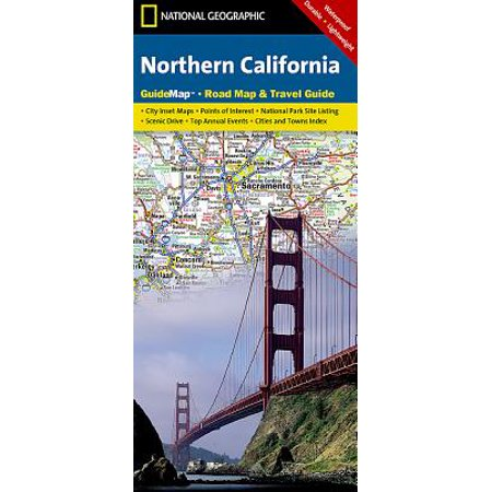 National geographic guidemaps: northern california - folded map: 9781597750615