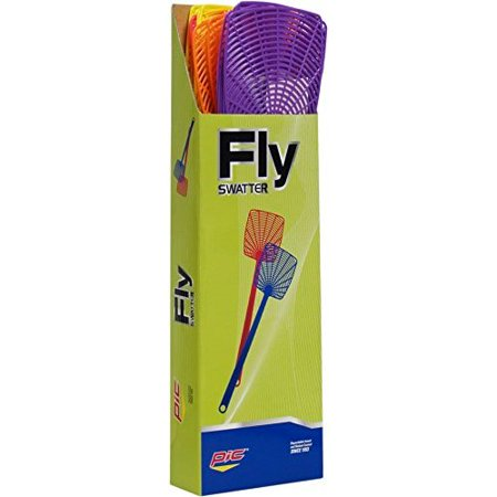 PIC 274-INN Plastic Fly Swatter Assorted Neon Plastic Fly Swatter 1 count
