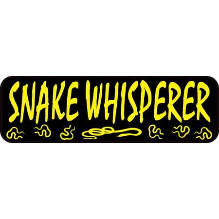 - 10x3 Snake Whisperer Bumper Magnet Magnetic Animal Vehicle Decal Snakes Magnets