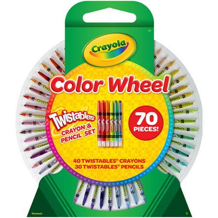 crayola color wheel 70 piece twistable crayon and pencil set - Crayola Colored Pencils Twistables