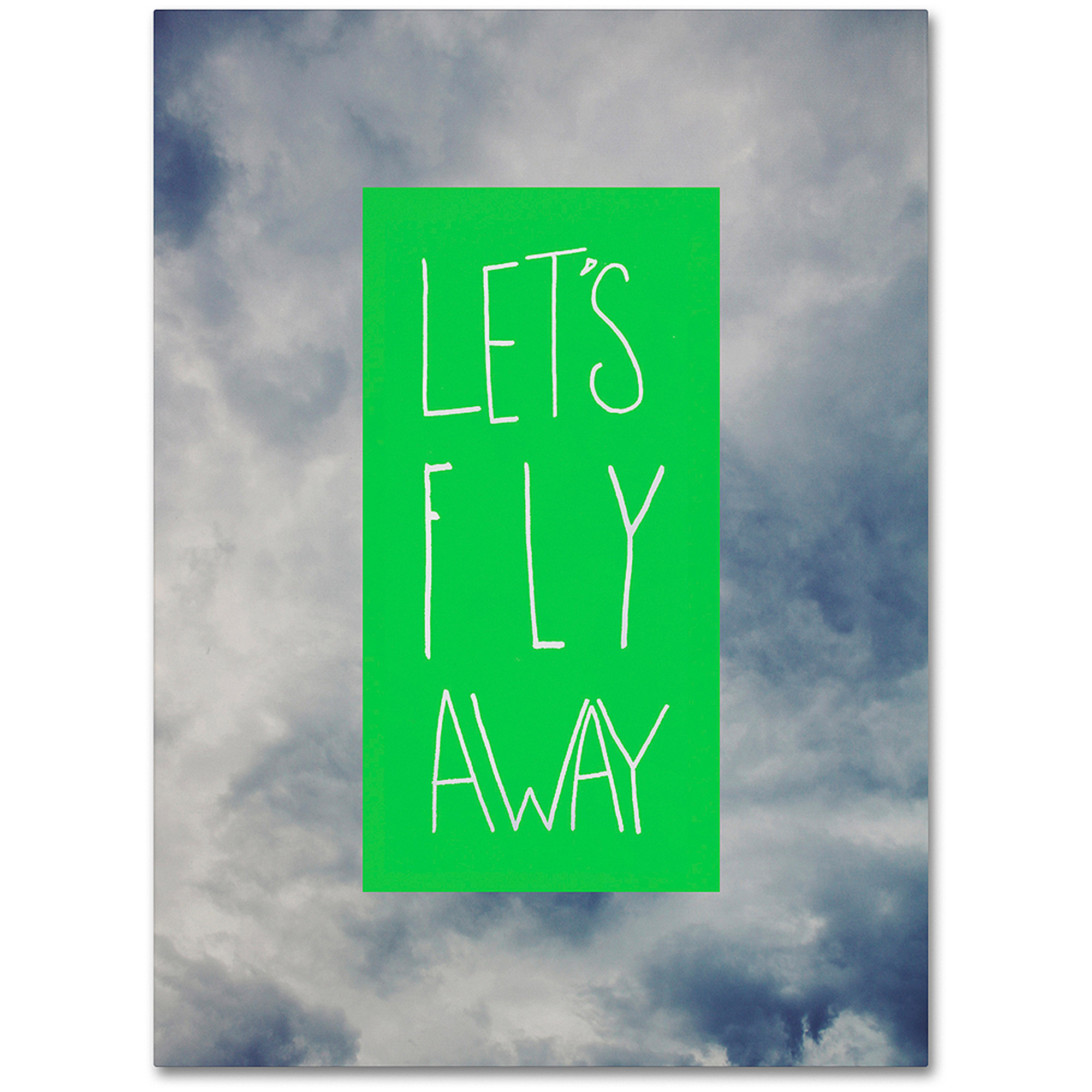 "Trademark Fine Art ""Let's Fly Away"" Canvas Art by Leah Flores"