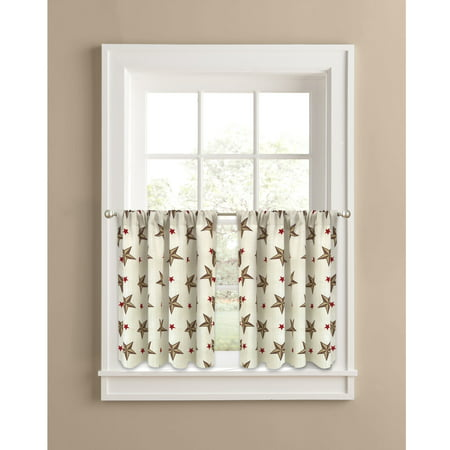 Texas Longhorns Window - Better Homes & Gardens Texas Stars Kitchen Curtains, Set of 2 or Valance