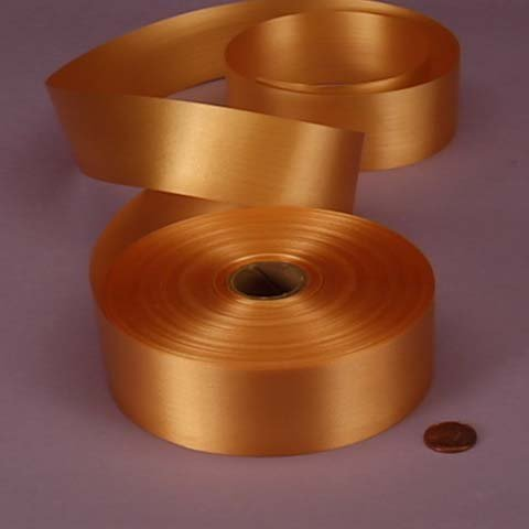 Gold Embossed Poly Satin Ribbon, 4433759