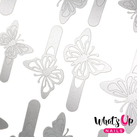 Whats Up Nails - Butterfly Wings Vinyl Stencils Nail Art Design