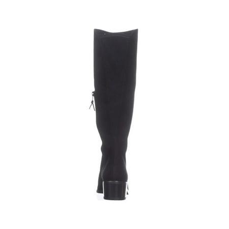 Stuart Weitzman Villepentagon Knee High Boots, Black Suede - image 1 of 6