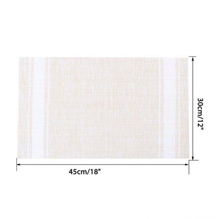 Placemats PVC Heat-resistant Non-slip Insulation Washable Table Mats 4pcs #18 - image 1 de 8