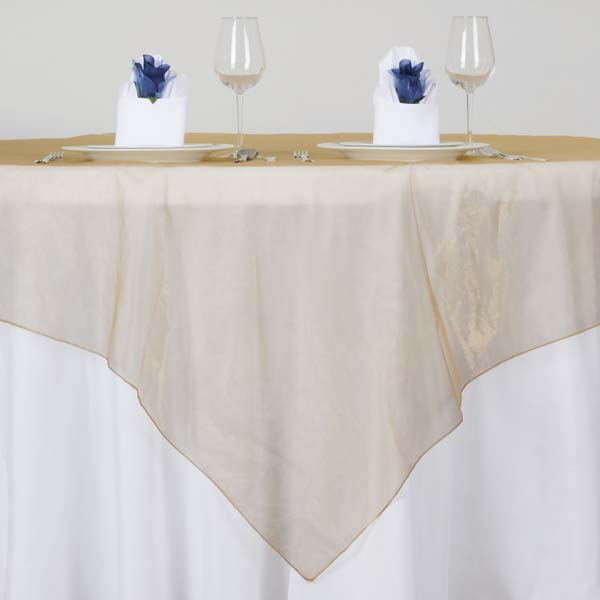 "Efavormart Organza Table Overlay 72"" x 72"" (Table Toppers) For Birthday Party Wedding Catering Event Table Decorations"
