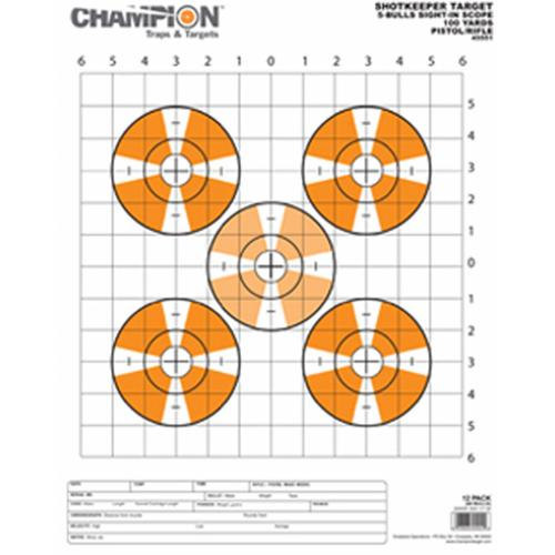 Champion Traps and Targets Shotkeeper Sightin Scope Target (Per 12) (Shotkeeper Sightin Scope Tgt Large 12Pk)
