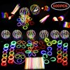 Glow Stick Party Favors Bulk LED Light Up Birthday Party Supplies Includes Glowsticks, Bracelets, Glasses, Butterfly Hair Clip Accessories, Hair Clasp Illuminate Party Kit 500 PCs