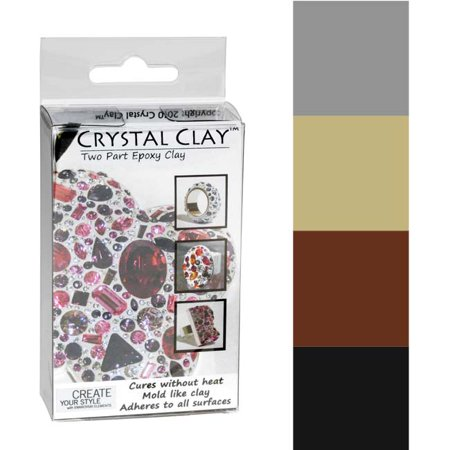 Silver Star Clay - Crystal Clay 2-Part Epoxy Clay Kit- Metallics Color Mix 100g
