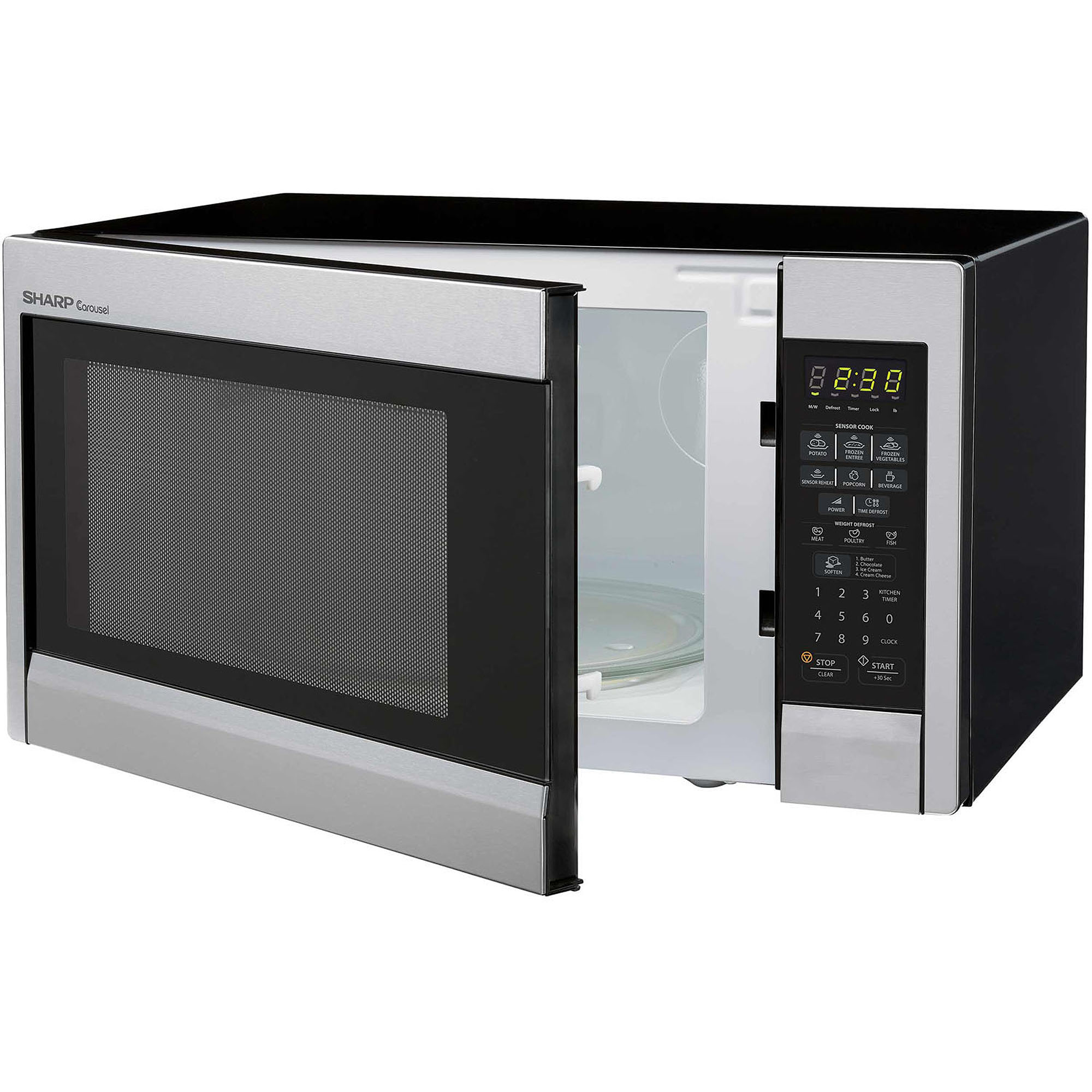 Sharp R451zs Carousel Countertop Microwave Oven 1 3 Cu Ft 1000w Stainless Steel
