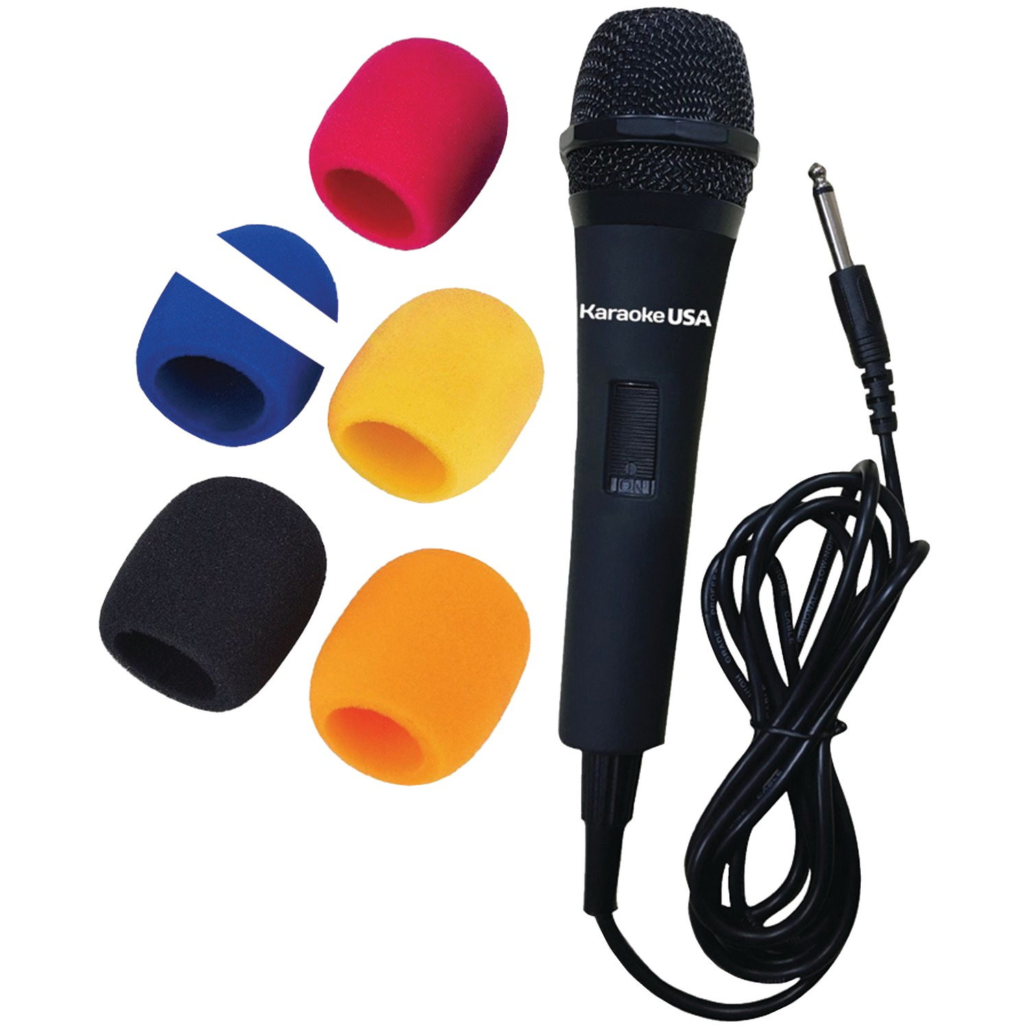 Karaoke USA M175 Professional Microphone with 5 Windscreens