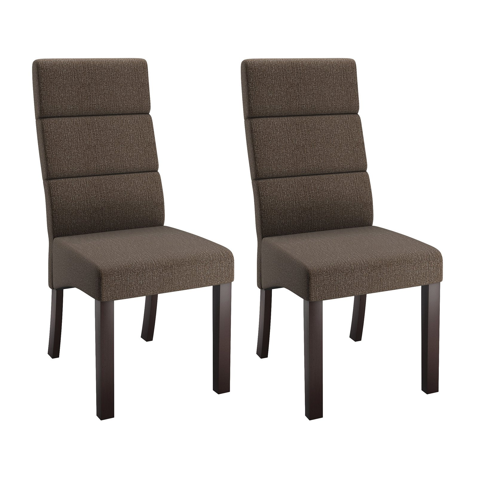 CorLiving Antonio Tall Back Upholstered Dining Chairs, Set ...