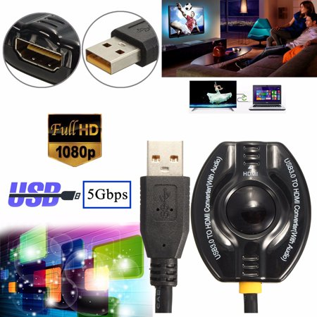 5Gbps USB 3.0 To   HD 1080P Video Cable Ad ter Converter For PC L top win8 - image 3 of 7