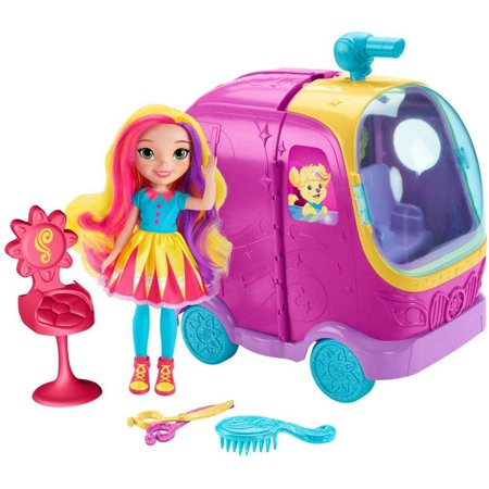 Sunny Day Glam Vanity Rolling Vehicle & Doll Play Set