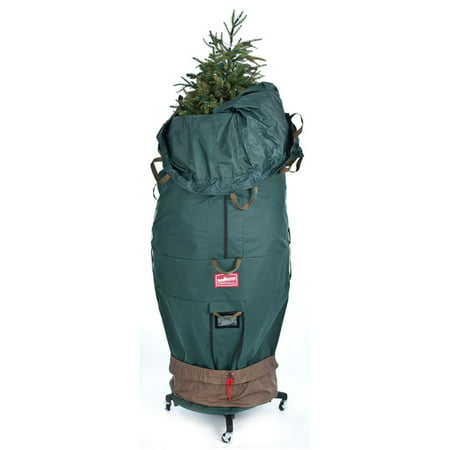 TreeKeeper Large Girth Upright Tree Bag with Rolling Stand (Treestand Side Bags)
