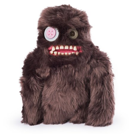 "Fuggler – Funny Ugly Monster, 9"" Sasquoosh (Brown) Plush Creature with Teeth, for Ages 4 and Up (Creature May Vary)"
