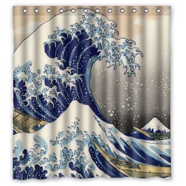 GreenDecor Japanese The Great Wave Off Kanagawa Waterproof ...