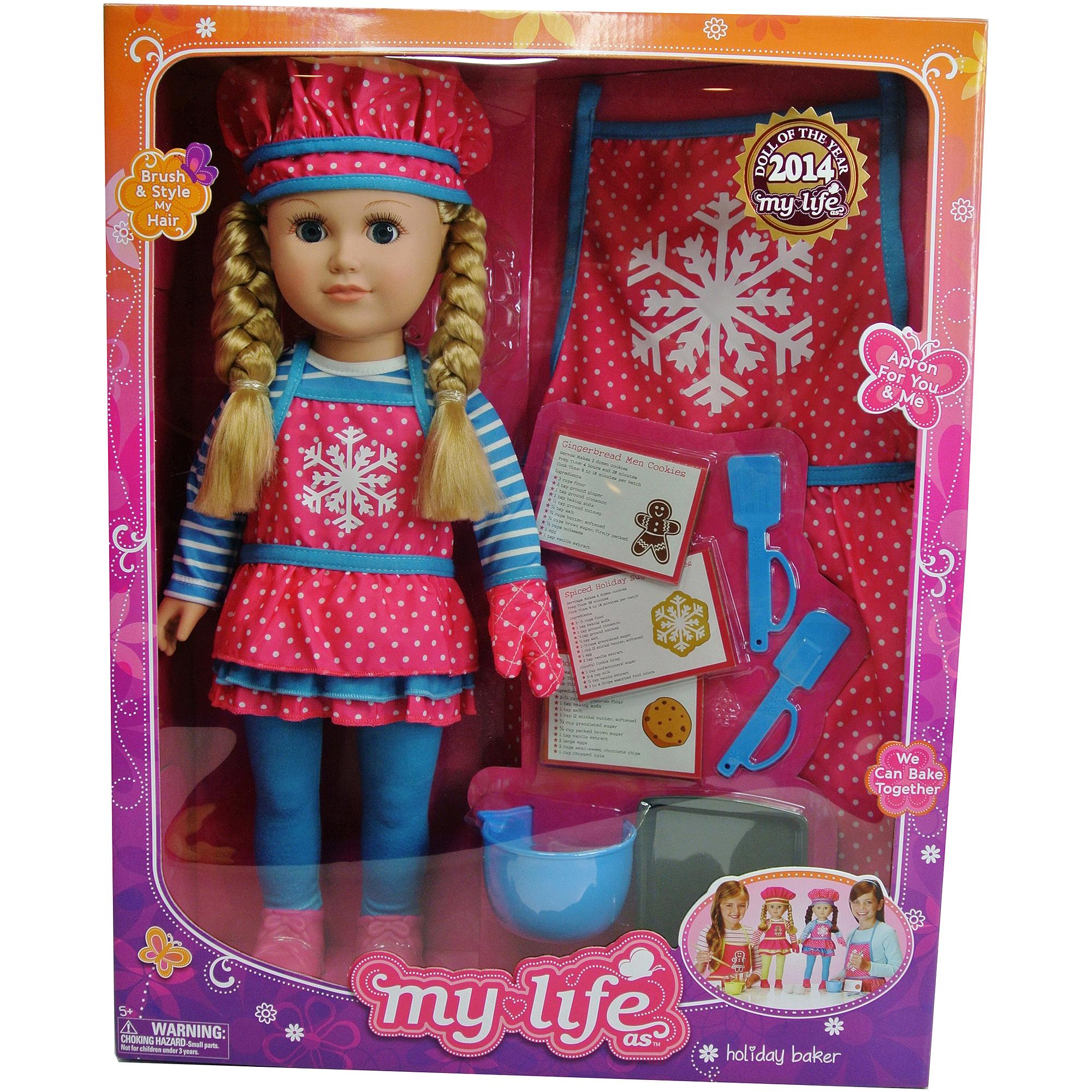"My Life As Doll of 2014 Holiday Baker 18"" Doll, Snowflake, Caucasain with Medium Blonde Hair"