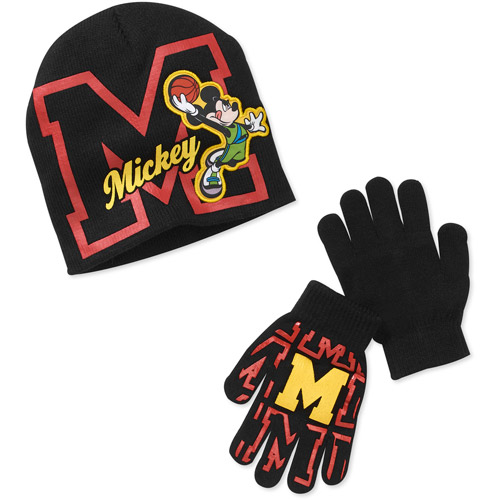 Mickey Mouse Boys' Ears Hat and Gloves Set
