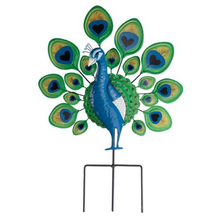 Peacock Lawn Stake by Maple Lane (Lighted Lawn Stakes)