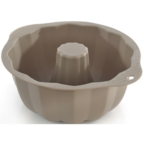 "Click here to buy Berghoff Studio Silicone Swirl Cake Mold 10.75 x 9 x 4"" by BergHOFF International."