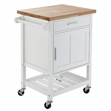 Homegear Compact Kitchen Storage Cart Island With