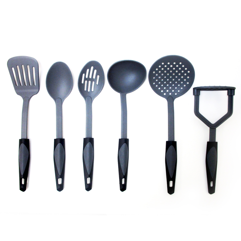 6 Pc Kitchen Serving Tools Set Heat Resistant Cooking Kit Utensils Server Spoons