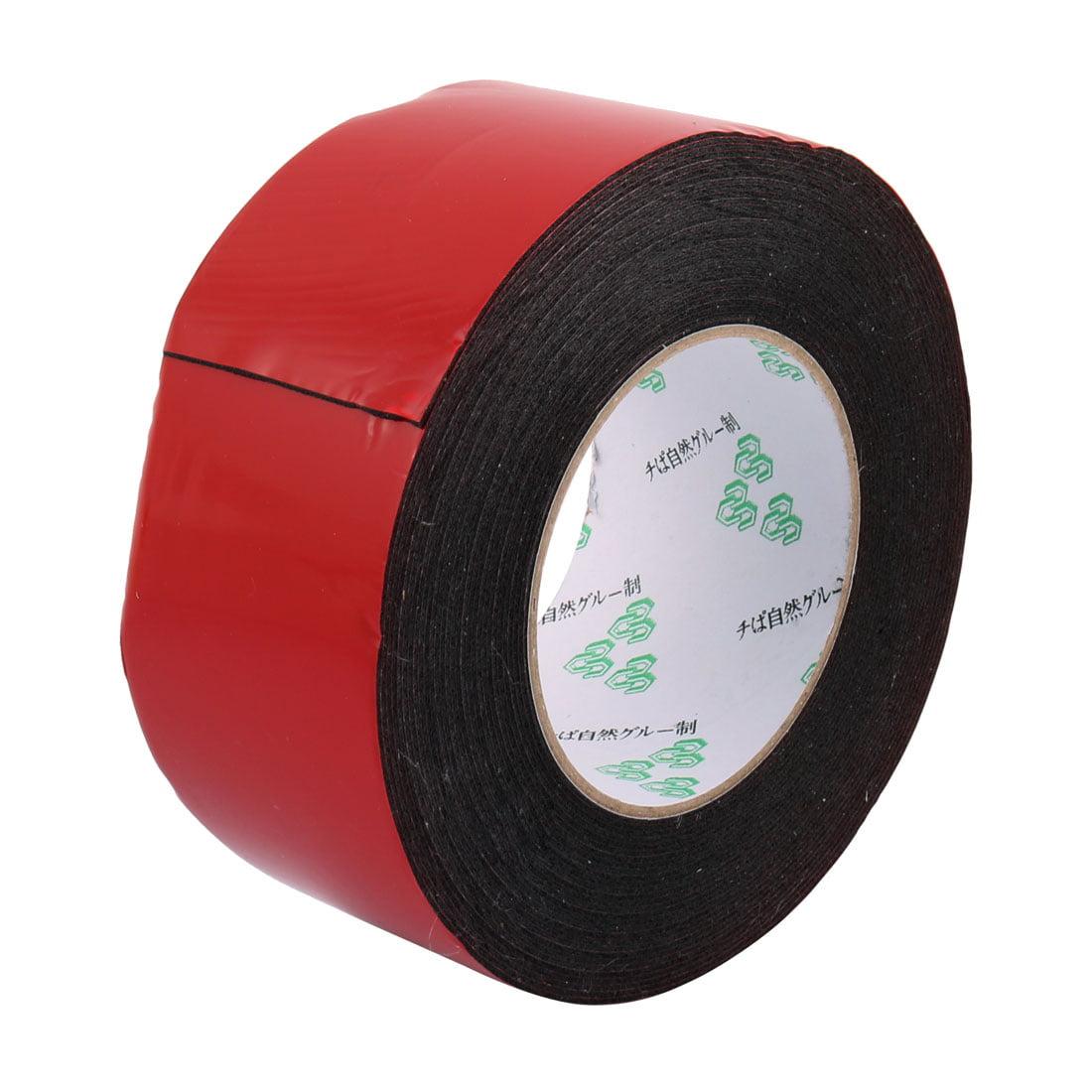 Unique Bargains 60mm x 1mm Double Sided Sponge Tape Adhesive Sticker Shockproof SpongeTape 10M