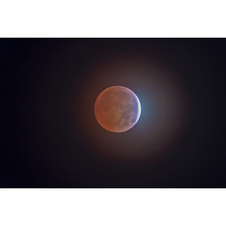 Lunar Eclipse Canvas Art   Alan Dyerstocktrek Images  35 X 23