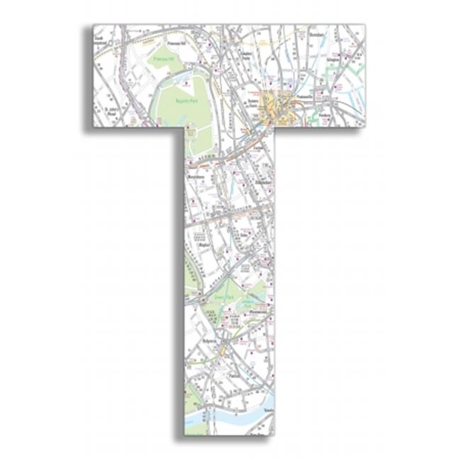 Stupell Industries OHI-116-T London Map 18 Inch Hanging T - image 1 of 1