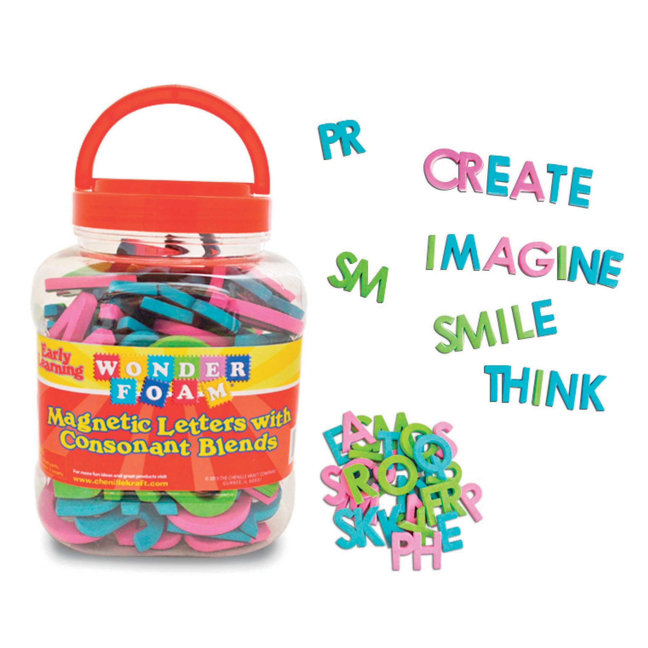 Pacon® WonderFoam® Magnetic Letters w/Consonant Blends, 104 Pieces