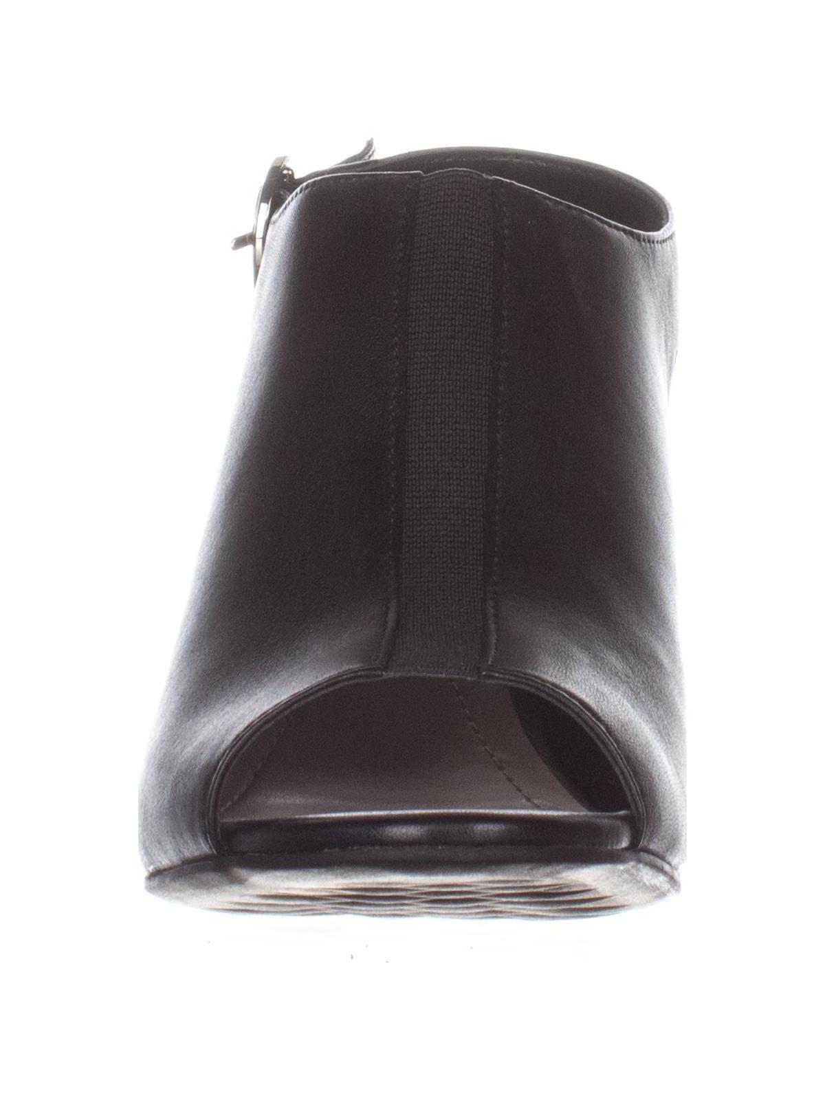 Alfani Womens Jalenne Leather Peep Toe Casual Ankle Strap Sandals