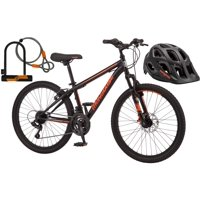 Bonus Helmet and Accessories with Mongoose Excursion Mountain Bike!