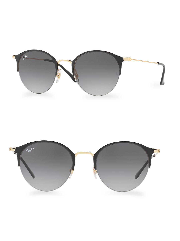 Gradient Mirrored Round Sunglasses