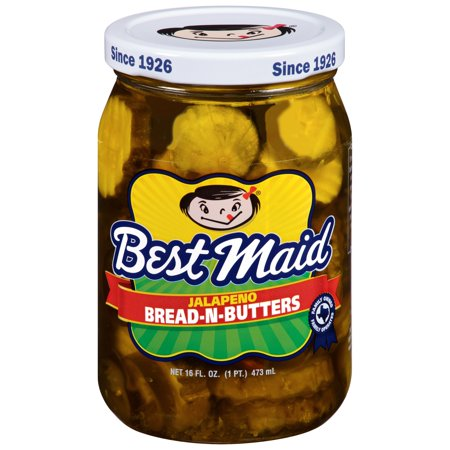 (3 Pack) Best Maid? Jalapeno Bread-N-Butters Pickles 16 fl. oz.