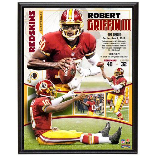 NFL - Robert Griffin Sublimated 10x13 Plaque   Details: Washington Redskins, 1st NFL Game