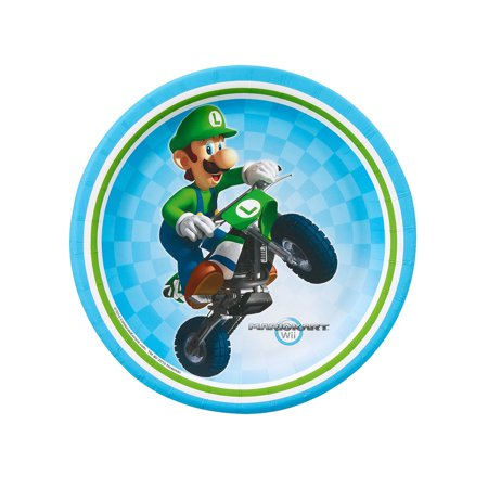 Super Mario Brothers Mario Kart Wii Party Supplies 48 Pack Dessert Plates (Super Mario Brothers Decorations)