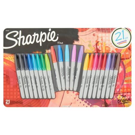 Sharpie The Original Fine Permanent Marker, 21 pack