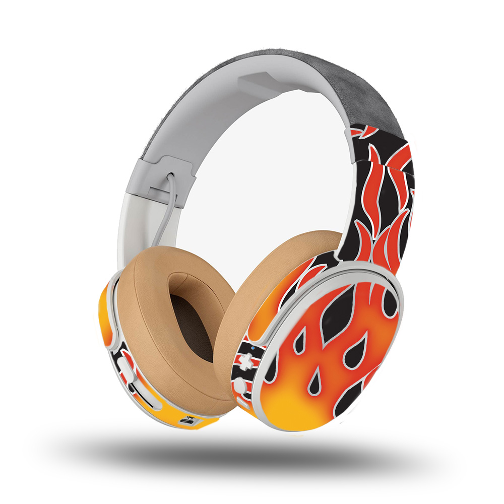Skin for Skullcandy Crusher Wireless Headphones - Hot Flames| MightySkins Protective, Durable, and Unique Vinyl Decal wrap cover | Easy To Apply, Remove, and Change Styles | Made in the USA