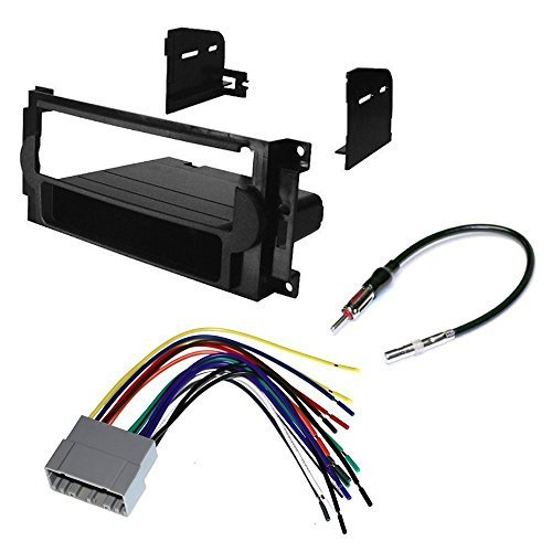 chrysler 2005 - 2007 300 car cd stereo receiver dash install mounting kit + wire  harness + radio antenna adapter - Walmart.com - Walmart.comWalmart