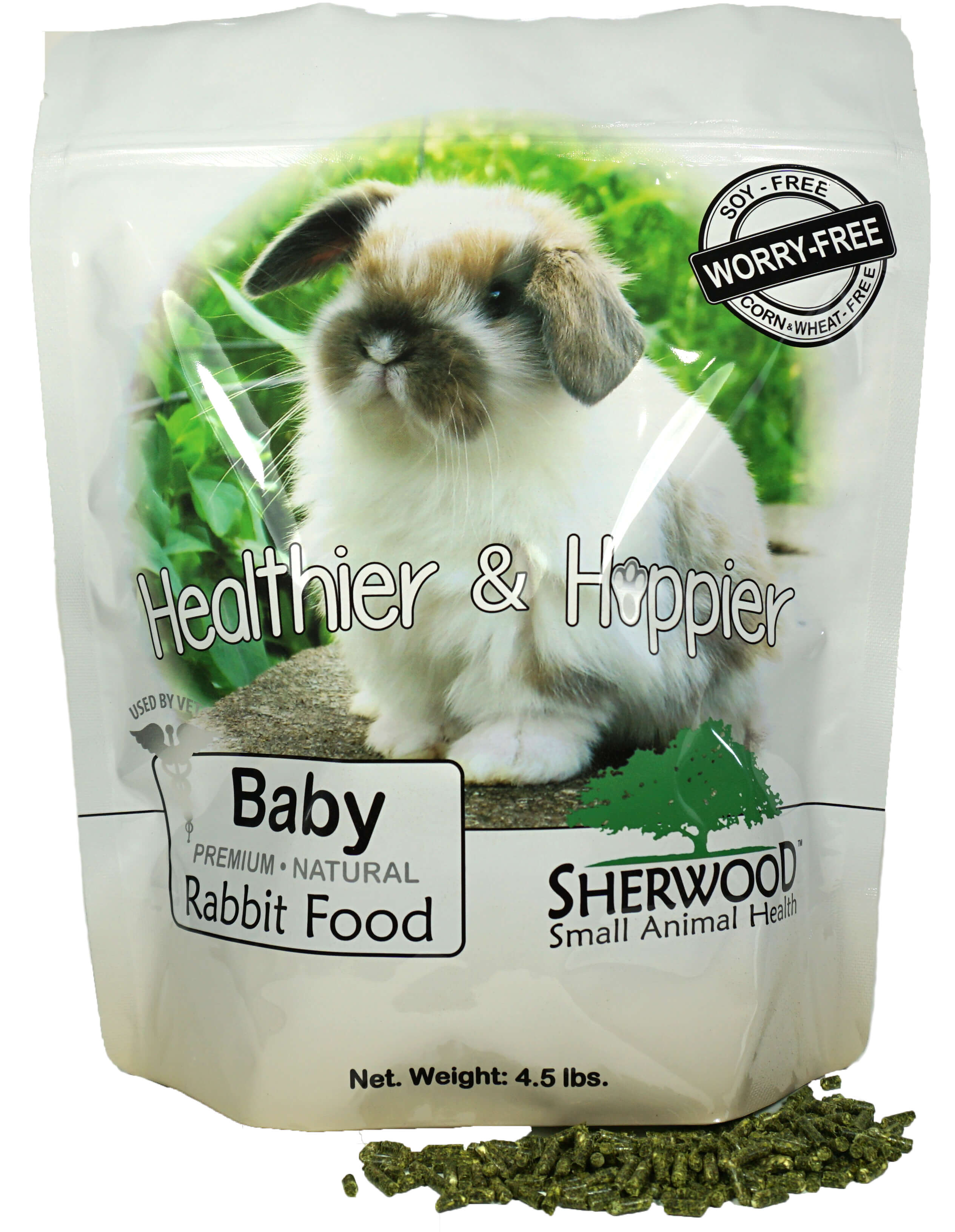 Rabbit Food, Baby by Sherwood Pet Health, 4.5 lb. (Soy, Corn & Wheat-free) (Vet Used) by Sherwood Pet Health