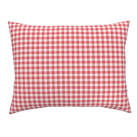 Tiny Check Buffalo Check Buffalo Plaid Plaid Summer Red Pillow Sham by Roostery