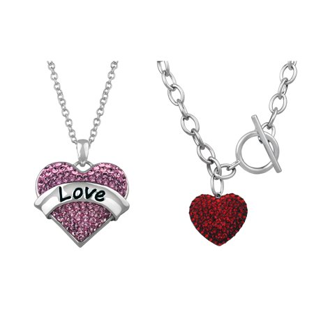 Truly Inspired Silver Plated; Crystal Valentine;s Day Jewelry Collection