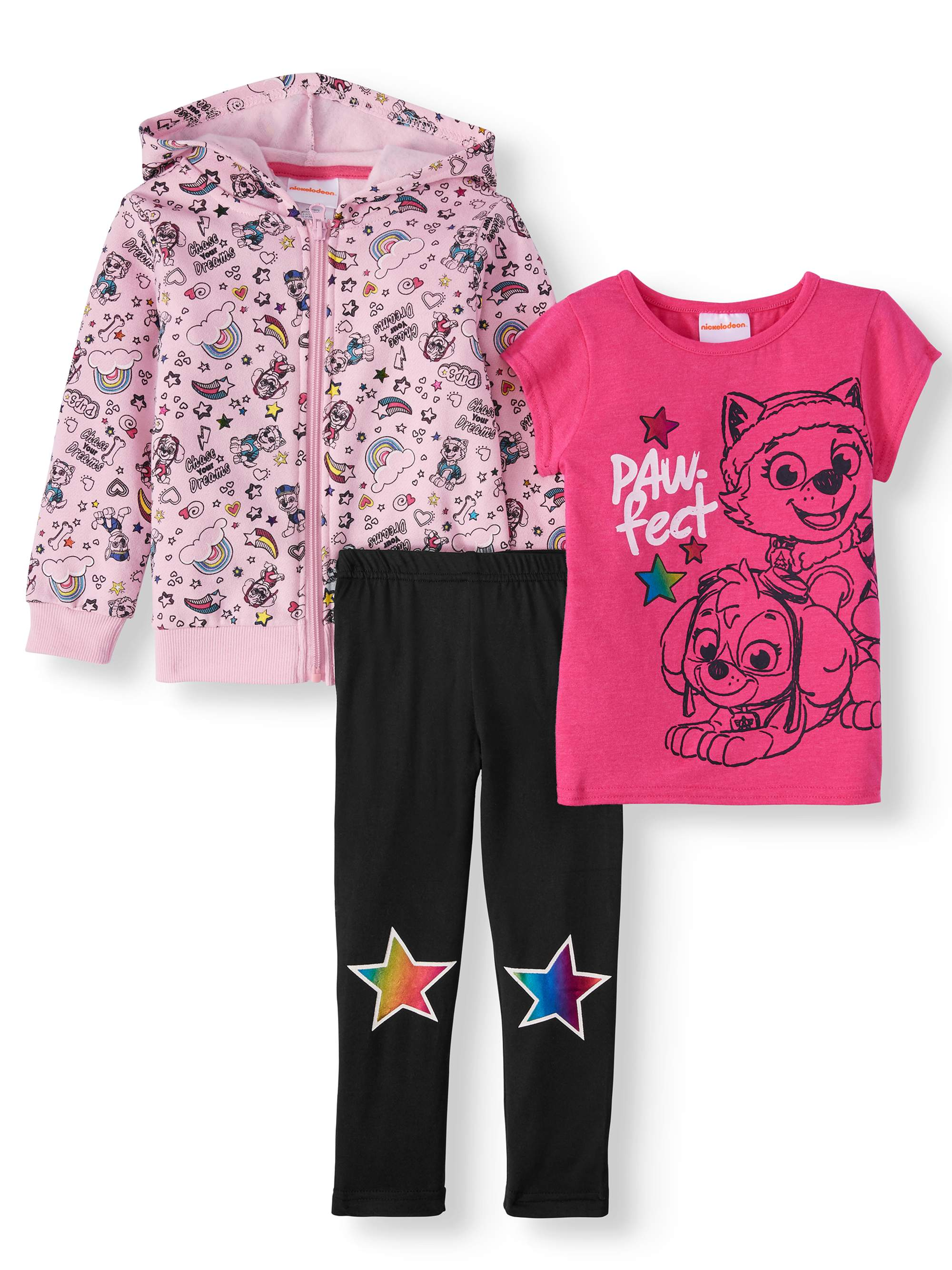 Colette Lilly Girls Unicorn 3-Piece Leggings Set Outfit